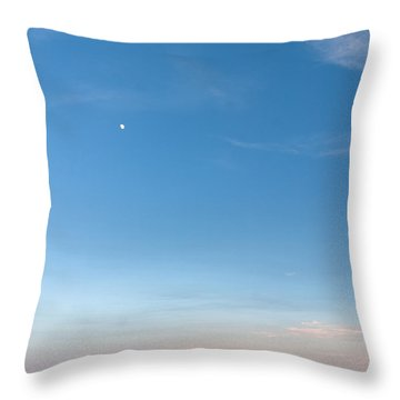 Moon And Pink Cloud Throw Pillow by Michelle Wiarda