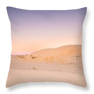 Moon And Sand Dune In Twilight Throw Pillow