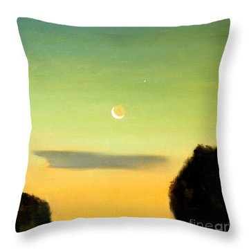 Moon And Venus Throw Pillow