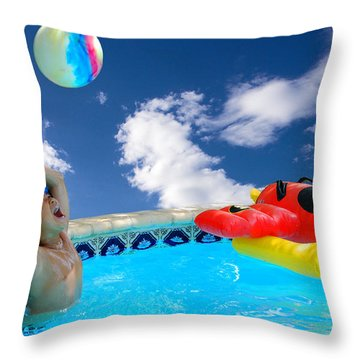 Moon Ball Throw Pillow by Roy Williams
