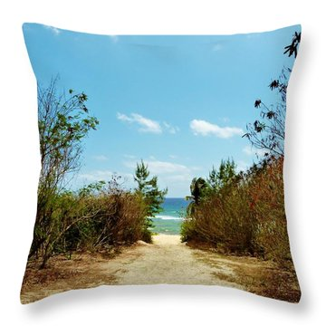Throw Pillow featuring the photograph Moon Bay Walk by Amar Sheow