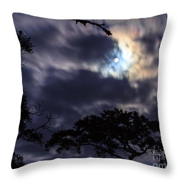 Moon Break Throw Pillow by Peta Thames