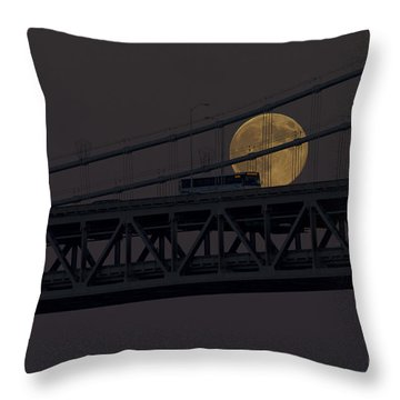 Throw Pillow featuring the photograph Moon Bridge Bus by Kate Brown