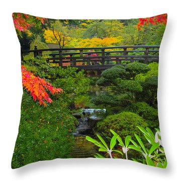 Moon Bridge To Enchantment Throw Pillow by Patricia Babbitt