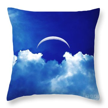 Moon Cloud Throw Pillow