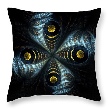 Moon Cross Throw Pillow by Anastasiya Malakhova