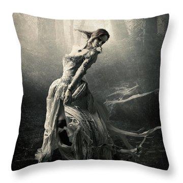 Moon Dance Throw Pillow by Cindy Grundsten