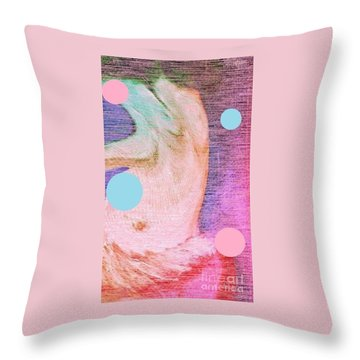 Throw Pillow featuring the painting Moon Dance by Ann Calvo