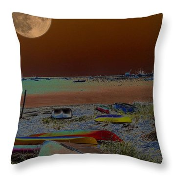 Moon Dreams Throw Pillow by Robert McCubbin
