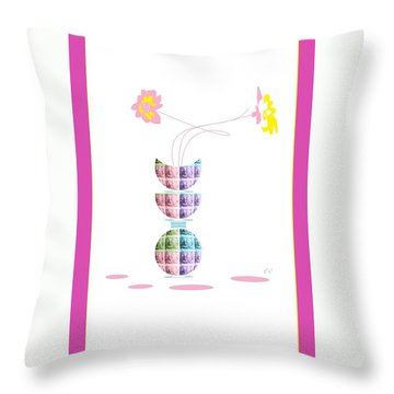 Moon Flower 2 Throw Pillow