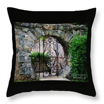 Moon Gate In Hamilton 1 Throw Pillow by Marcus Dagan