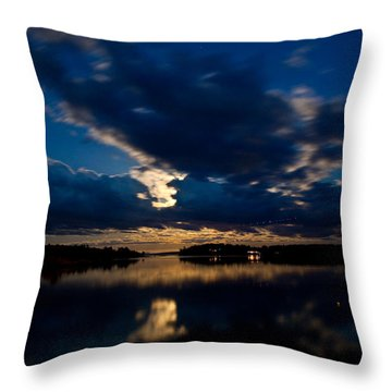 Moon Glow Throw Pillow by Greg DeBeck