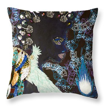 Moon Guardian - The Keeper Of The Universe Throw Pillow