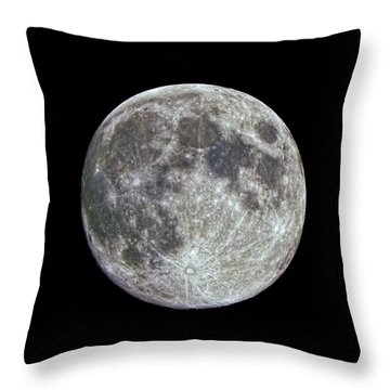 Moon Hdr Throw Pillow by Greg Reed