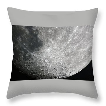 Moon Hi Contrast Throw Pillow