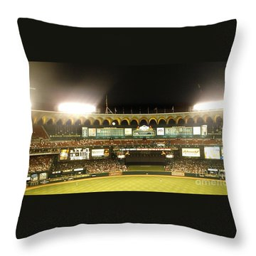 Throw Pillow featuring the photograph Moon In The Arches-edited by Kelly Awad