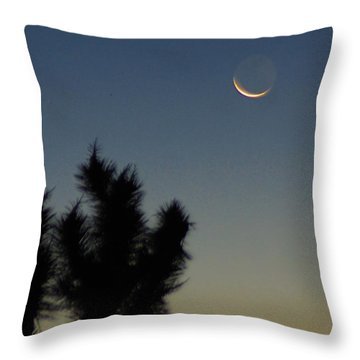 Throw Pillow featuring the photograph Moon Kissed by Angela J Wright