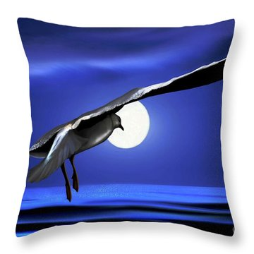 Moon Launch Throw Pillow by Dale   Ford