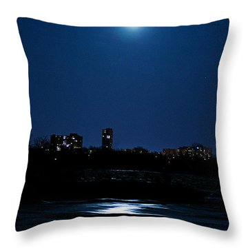 Moon Light Throw Pillow by Andre Faubert