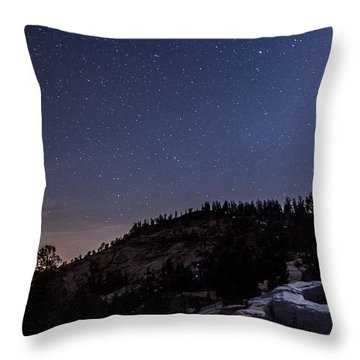 Moon Light At Olmstead Point Throw Pillow by Cat Connor