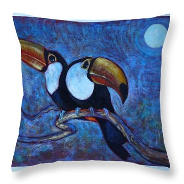 Dreaming Of A Rainforest Moon Throw Pillow by Charles Munn