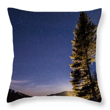 Moon Light Over Tenaya Lake Throw Pillow by Cat Connor