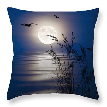 Moon Light Silhouettes Throw Pillow