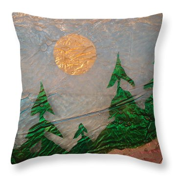Moon Mist  Throw Pillow by Rick Silas