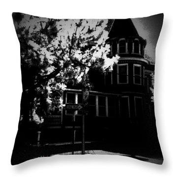 Throw Pillow featuring the photograph Moon N U by Robert McCubbin
