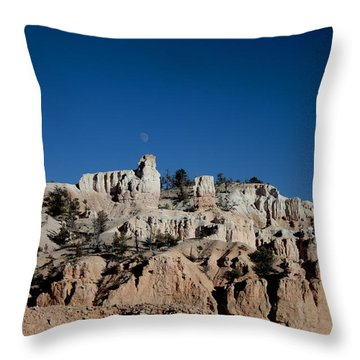 Throw Pillow featuring the photograph Moon On The Bryce Canyon by Ivete Basso Photography