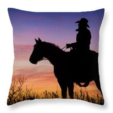 Moon On The Range Throw Pillow
