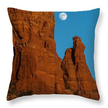 Moon Over Chicken Point Throw Pillow