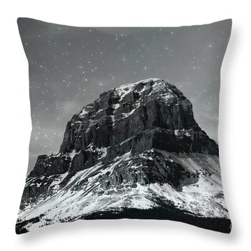 Moon Over Crowsnest Throw Pillow