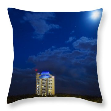 Moon Over Ft. Lauderdale Throw Pillow