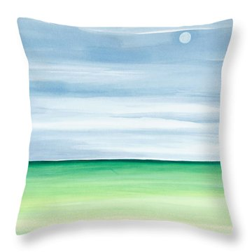 Moon Over Islamorada Throw Pillow by Michelle Wiarda