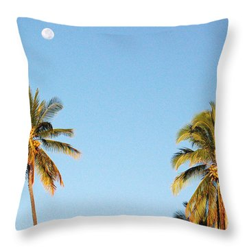 Moon Over Molokai Throw Pillow
