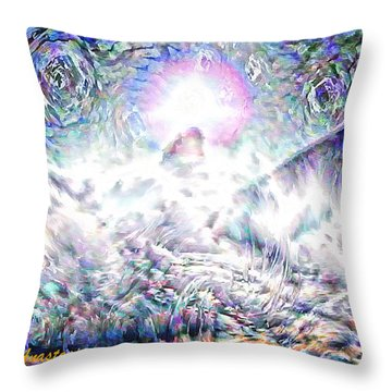 Moon Over Needle Rock Colorado Throw Pillow