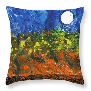 Moon Over Philo Throw Pillow