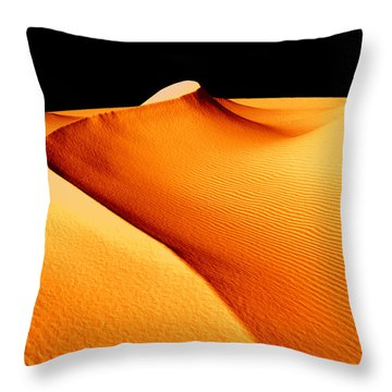 Moon Over Sand Dunes Throw Pillow