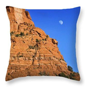 Moon Over Sedona Throw Pillow