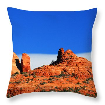 Throw Pillow featuring the photograph Moon Over Sedona by Tom Kelly