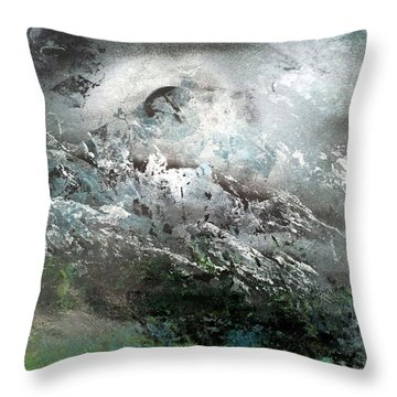 Moon Over The Mountains Throw Pillow