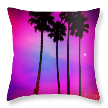 Moon Palms Throw Pillow