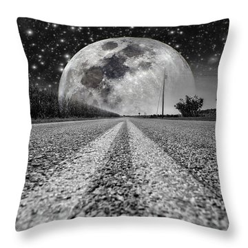 Moon Rise Country  Throw Pillow