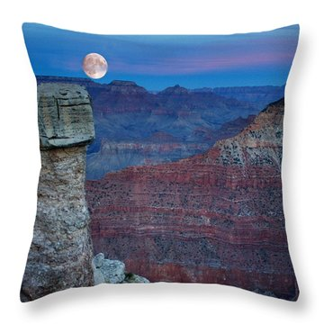 Moon Rise Grand Canyon Throw Pillow