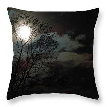 Throw Pillow featuring the photograph Moon Rise by Pete Trenholm