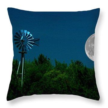 Moon Risen Throw Pillow