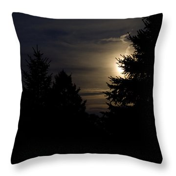 Moon Rising 02 Throw Pillow by Thomas Woolworth