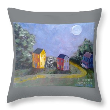 Moon Shadows Throw Pillow