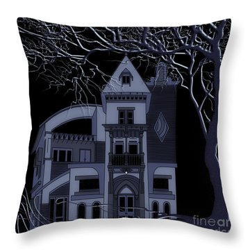 Throw Pillow featuring the digital art Moon Shine by Megan Dirsa-DuBois